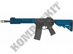 CM068B M4 Keymod Electric Airsoft Rifle BB Machine Gun Metal Body & Gear Box 2 Tone Blue Black